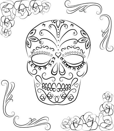 all saint day: Skull dia de los muertos