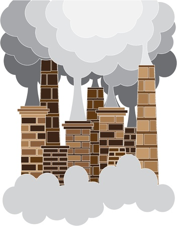 toxic emissions: Pollution concept