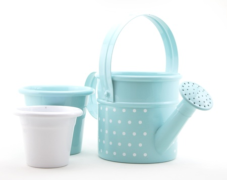 Watering can and pots Stock Photo - 19656148