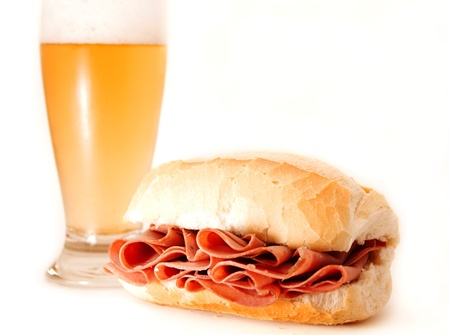 bologna: Mortadella sandwich Stock Photo
