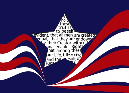 declaration: American Independence Declaration Illustration
