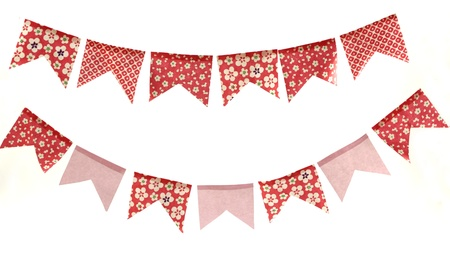 Cute banners, decorative flags  Stock Photo