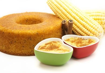 Corn cake and corn cream