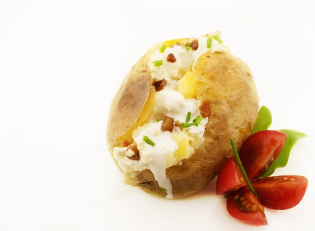 baked potato: Baked potato isolated on white