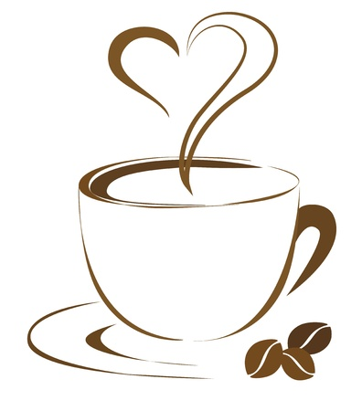 Coffee outline  Elegant and simple design  Vector