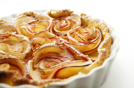culinary skills: Apple pie  Roses made of apple