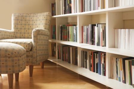 Thuis Bibliotheek Stockfoto