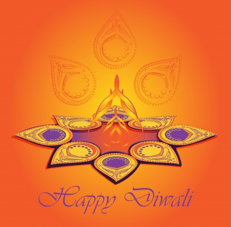 Happy Diwali  Major Hindu holiday  Vector