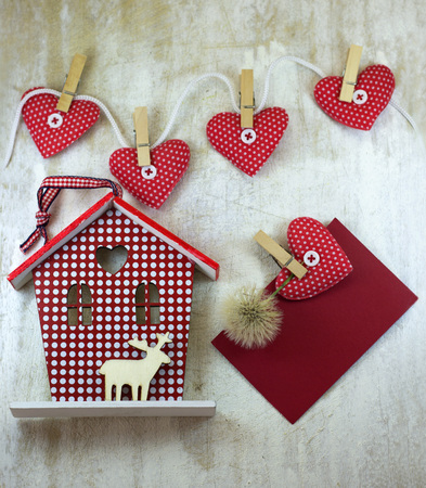 House and hearts Stock Photo