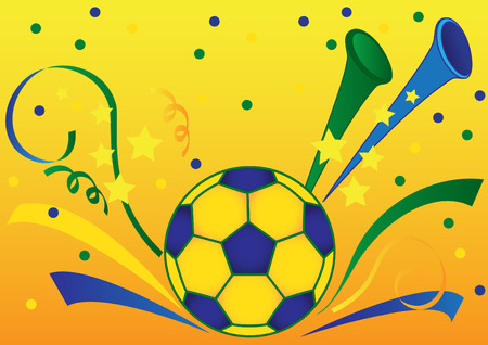 football party: Sport background with soccerball Illustration