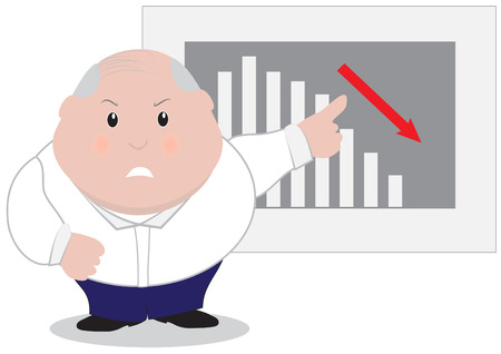 Manager angry with bad results Vector