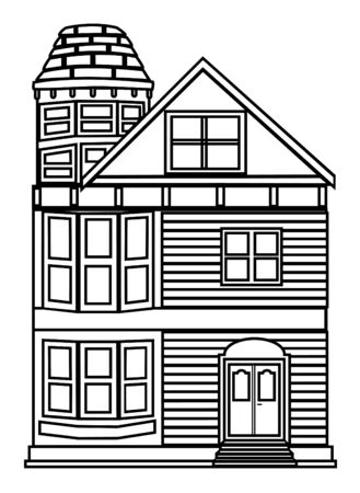 victorian house: Victorian house outline