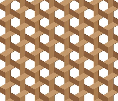 straw mat: Wicker seamless pattern