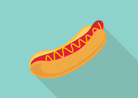 Hot dog  Flat design