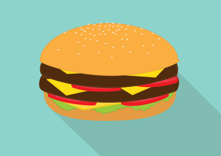 cheese burger: Double cheese burger salade Illustration