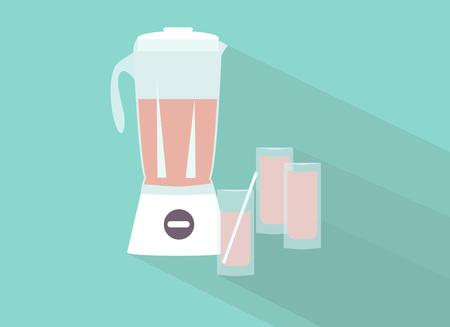 juicer: Blender  Flat design