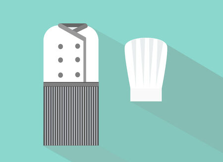 uniforme de chef: Chef Dise�o plano uniforme