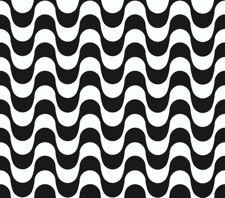 Copacabana waves seamless pattern. Vector