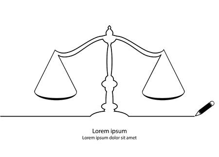 justice scale: Justice scale contour