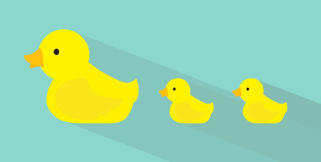Duck family flat design Vector