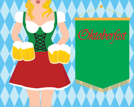 fest: Oktober fest girl Illustration