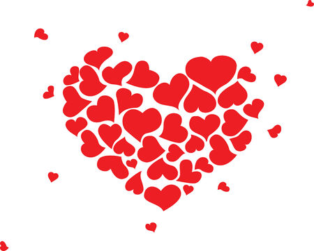 romantic: Romantic hand drawn hearts Illustration