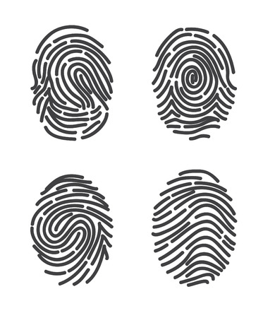 finger prints: Finger prints set. Stylized design vector