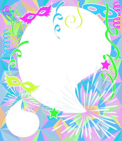 antifaz carnaval: Colores de ne�n Fondo del partido. Vector de Carnaval, con copia espacio.