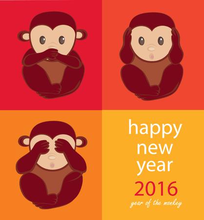 see no evil: Wise monkeys. Happy New Year. See no evil, speak no evil, hear no evil.