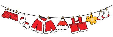 christmas funny: Santa Claus clothes vector