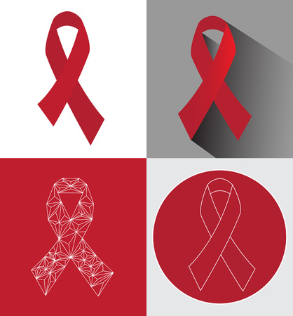 awareness ribbons: awareness ribbons set . Illustration
