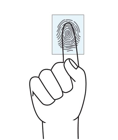reader: Finger print scan access control vector. Touch sensor scanner.