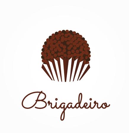 Brigadeiro icon vector. Brazilian sweet candy brigadier design illustration.  Ilustrace