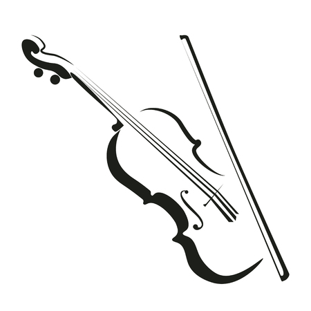 Stylized violin icon