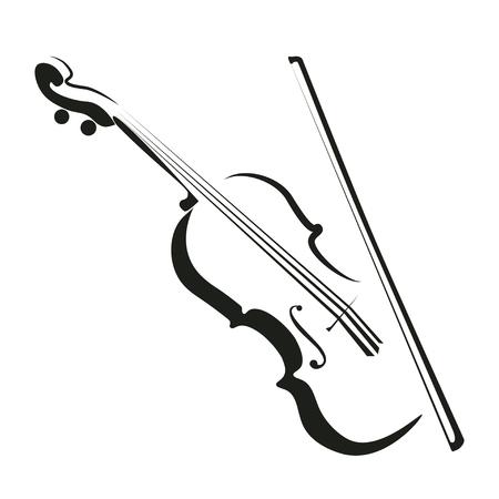 Ikona stylizowane skrzypce