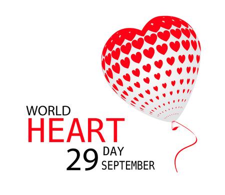 World heart day September 29 vector.