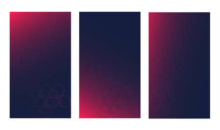 Gradient tech UI background vector. Modern trend colors with subtle geometric grid. Illustration