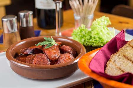 spanish tapas: Spanish tapas Chorizo ????
