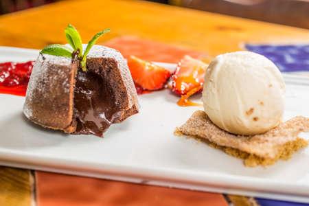 volcan: Volcan de chocolate Stock Photo