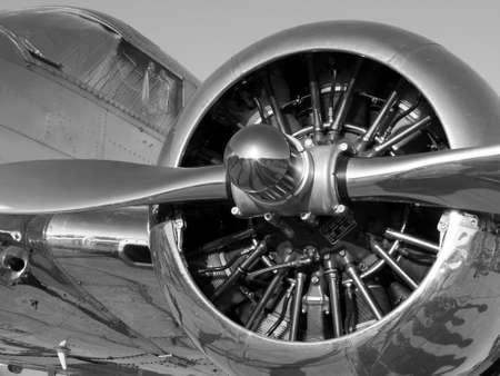 Rotary Propeller Airplane Engine