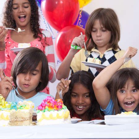children party: Birthday Cake Stock Photo