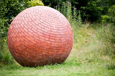 Unusual Brick Ball Stock Photo