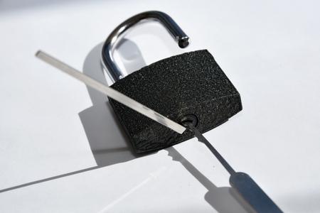 loophole: Lock picking Stock Photo