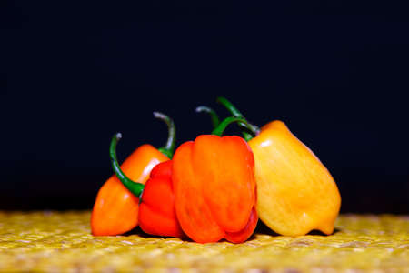 nature natural: Chilli red Orange yellow spicy spices, vegetables, food vegetable plant food colours nature natural seasoning baking ingredient vegetable close-up group of peppers chilli Chili group chilli peppers Stock Photo