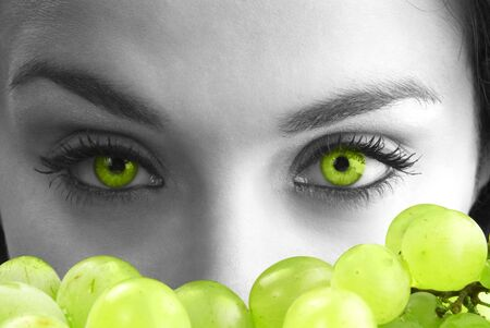 green eyes and grape Stock Photo - 772609