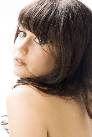 portrait of a cute brunette  photo