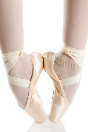 particolare: Ballerino di danza e balletto scarpe e pointe