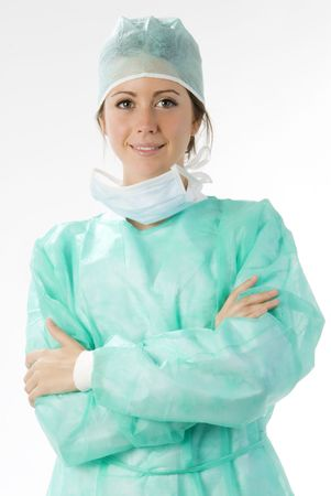 young nurse just after operation in surgery Stock Photo - 2206171