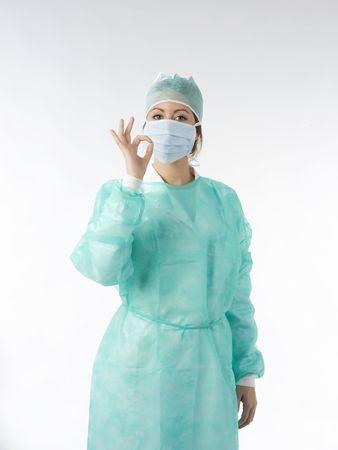 nurse in operation dress taking poses Stock Photo - 2317360