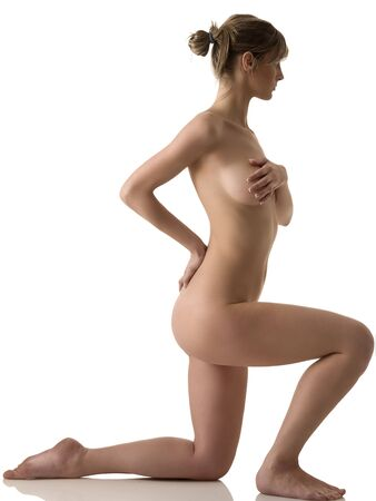 beauty portrait of a young naked woman with great body Stock Photo
